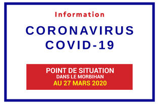 Point de situation du Coronavirus le 27 Mars 2020