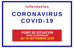 Point de situation sur le coronavirus en Bretagne au 16 septembre 2020