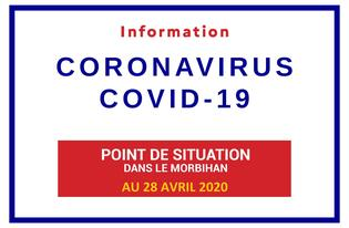 Point de situation sur le Coronavirus en Bretagne au 28 avril