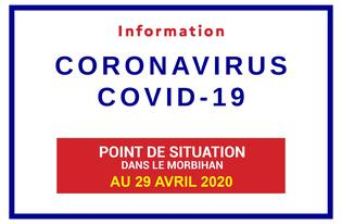 Point de situation sur le Coronavirus en Bretagne au 29 avril