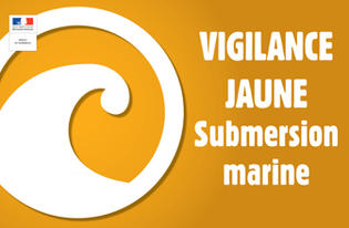 Vigilance jaune - Vagues-submersion marine - A partir de 14h le vendredi 9 novembre 2018