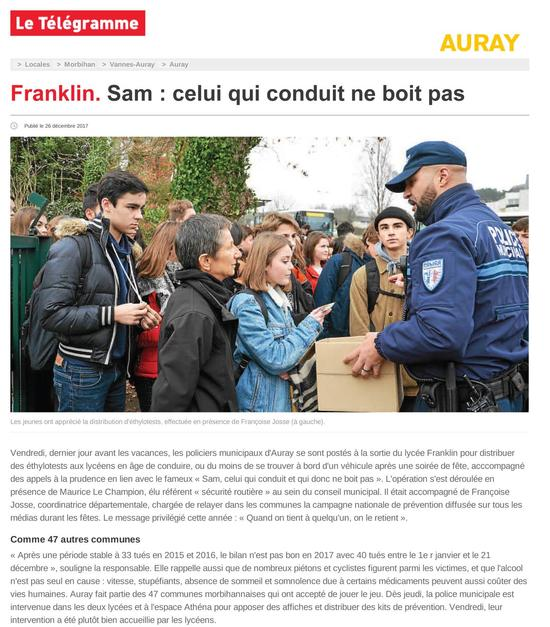 auray franklin sam