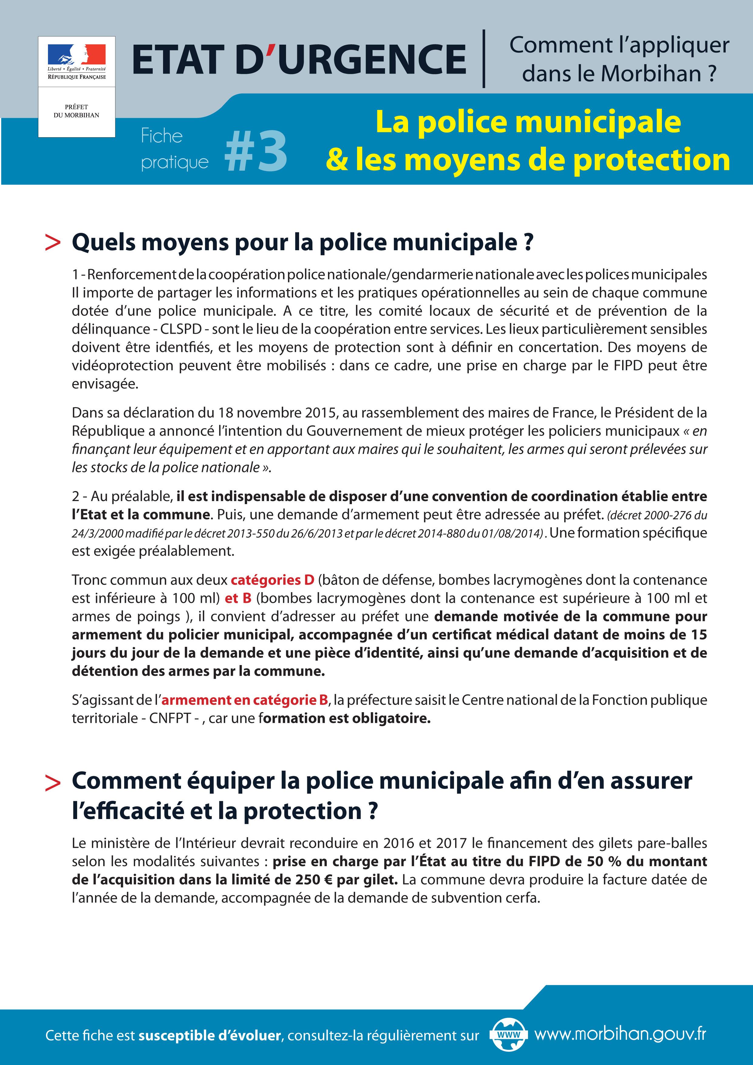 décret police municipale 2016
